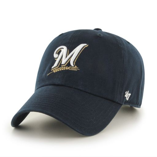 Adult Milwaukee Brewers Garment Washed Baseball Cap
