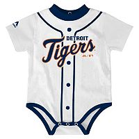 Baby Majestic Detroit Tigers Home Jersey Bodysuit