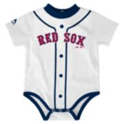Baby Majestic Boston Red Sox Home Jersey Bodysuit