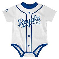 Baby Majestic Kansas City Royals Home Jersey Bodysuit