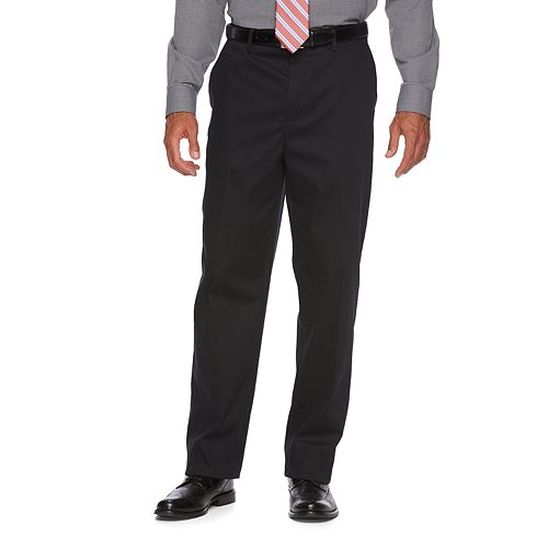 Men's Croft & Barrow® Relaxed-Fit No-Iron Flat-Front Casual Pants