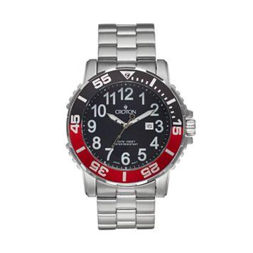 Croton Men's Deep Sea Stainless Steel Watch - CA301280BKRD
