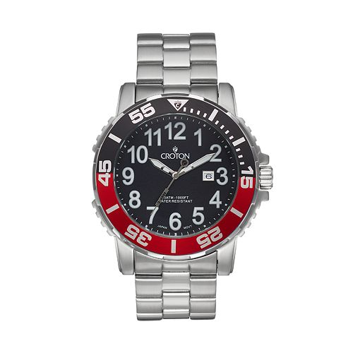 Croton Men's Deep Sea Stainless Steel Watch - CA301280BKRD
