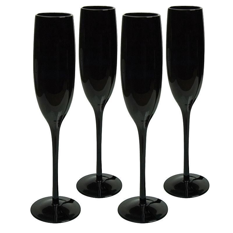 Artland 4-pc. Midnight Black Champagne Flute Set