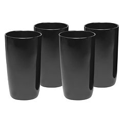 Artland 4 pc Midnight Black Highball Glass Set