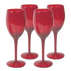 Artland 4-pc. Midnight Rouge Wine Glass Set