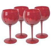 Artland 4 pc Midnight Rouge Balloon Wine Glass Set