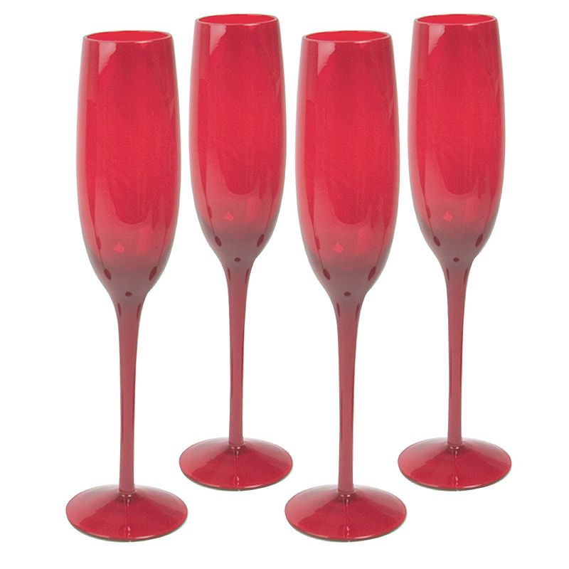 Artland 4-pc. Midnight Rouge Champagne Flute Set, Red