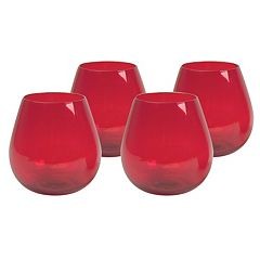 Artland 4-pc. Midnight Rouge Stemless Red Wine Glass Set