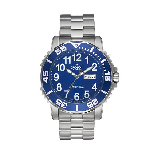 Croton Men's Deep Sea Stainless Steel Automatic Watch