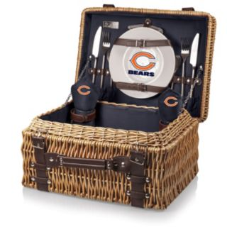 Picnic Time Chicago Bears Champion Willow Picnic Basket with Service for 2
