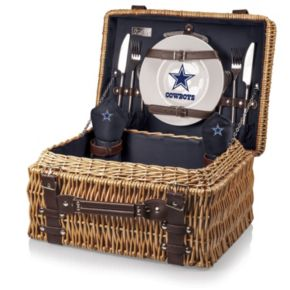 Picnic Time Dallas Cowboys Champion Willow Picnic Basket with Service for 2