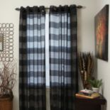 Portsmouth Home 2-pk. Sofia Striped Sheer Window Curtains