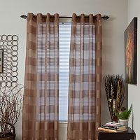 Portsmouth Home 2-pack Sofia Striped Sheer Window Curtains