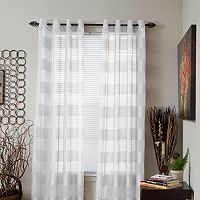 Portsmouth Home Sofia Striped Sheer Window Curtain Set