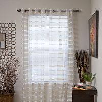Portsmouth Home Arla Striped Window Curtain Set