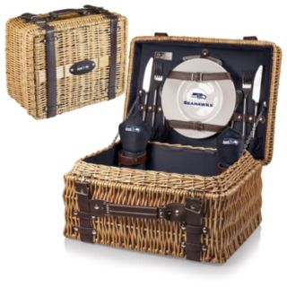Picnic Time Seattle Seahawks Champion Willow Picnic Basket with Service for 2