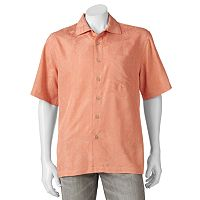 Men's Batik Bay Textured Tropical Button-Down Shirt