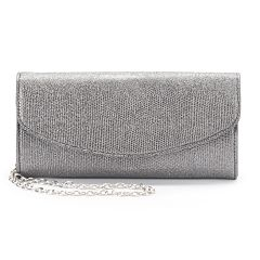 Lenore by La Regale Sparkle Lizard Roll Clutch