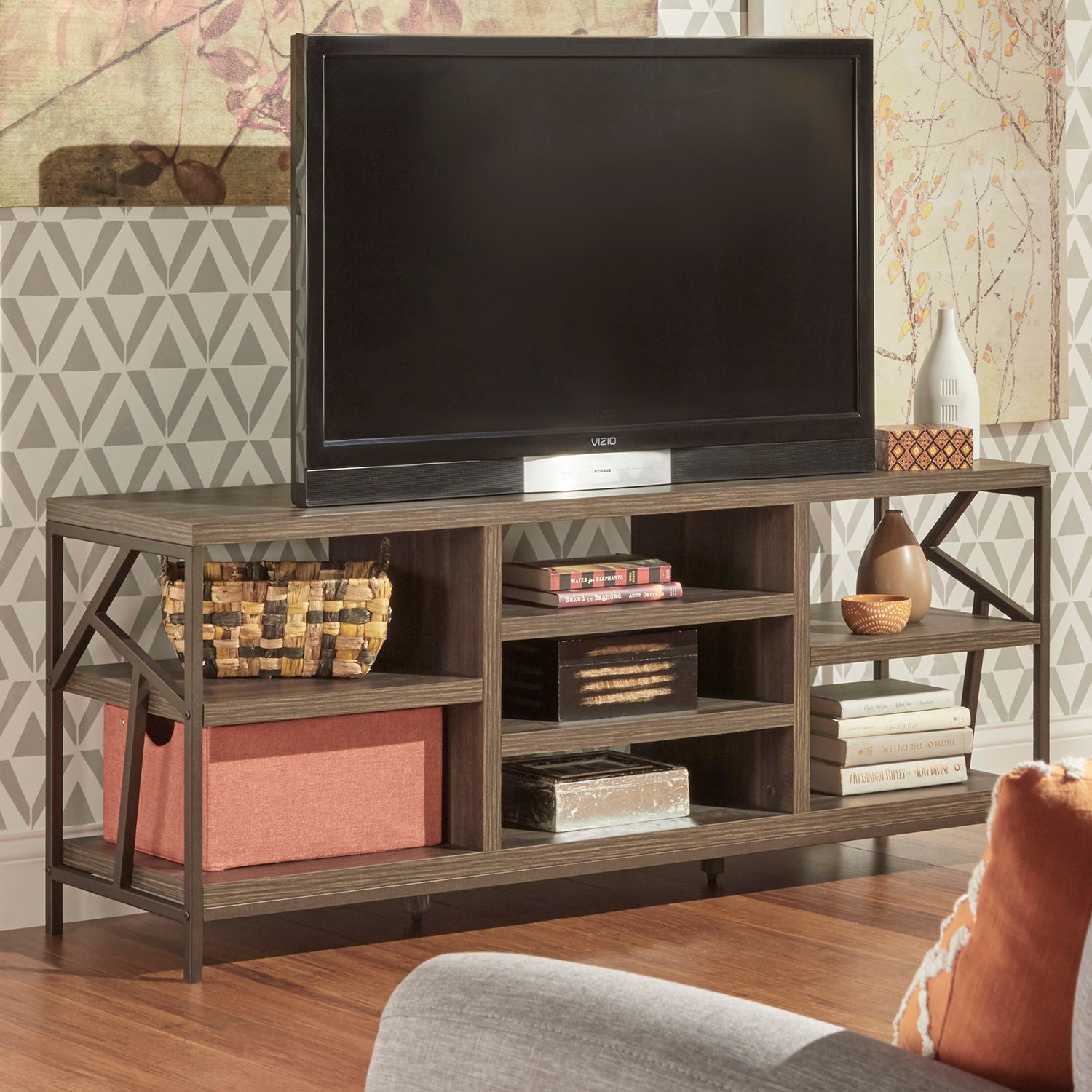Tv Racks Remington Tv Stand With Tv Racks Good Tv Stands With Tv  # Meuble Tv Console
