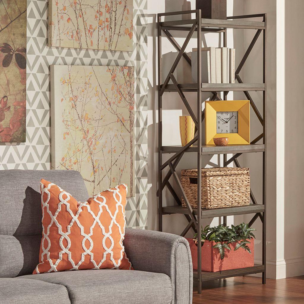 HomeVance Adelaide Geometric 5-Shelf Tower