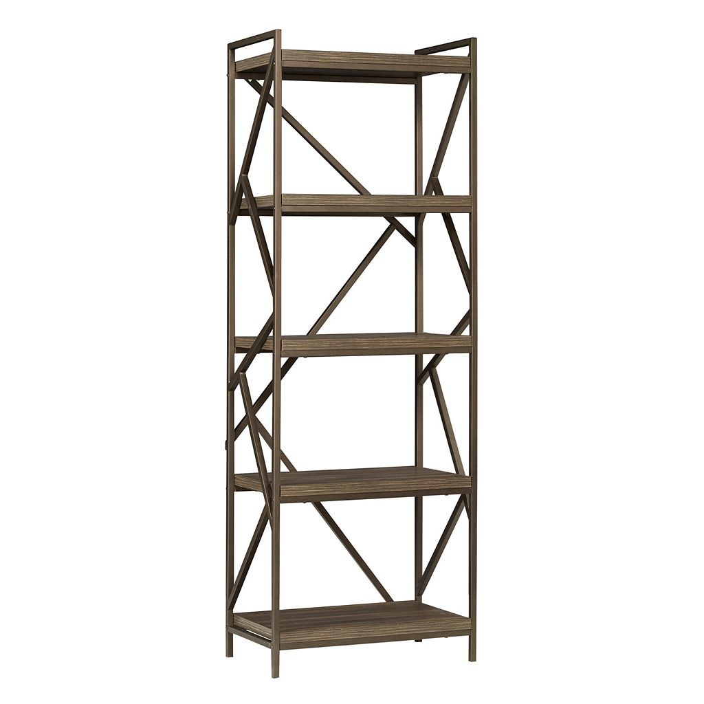 HomeVance Adelaide Geometric 5-Shelf Tower