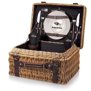 Picnic Time Baltimore Ravens Champion Willow Picnic Basket with Service for 2