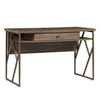HomeVance Adelaide Geometric Side Cutout Desk