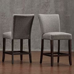 HomeVance Leona Gray Counter Stool 2 pc Set