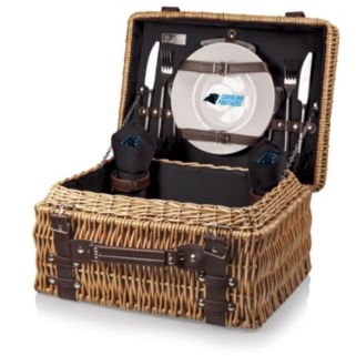 Picnic Time Carolina Panthers Champion Willow Picnic Basket with Service for 2