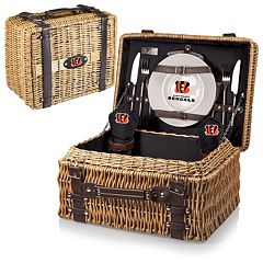 Picnic Time Cincinnati Bengals Champion Willow Picnic Basket with Service for 2