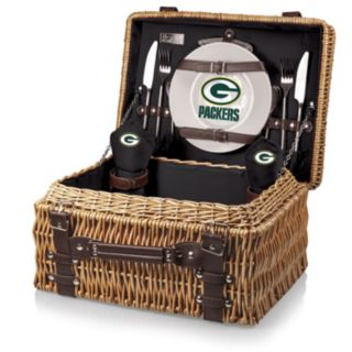 Picnic Time Green Bay Packers Champion Willow Picnic Basket with Service for 2