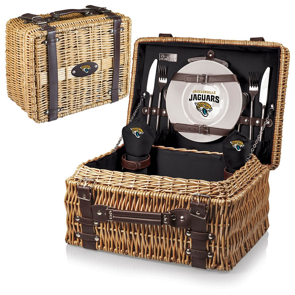 Picnic Time Jacksonville Jaguars Champion Willow Picnic Basket with Service for 2