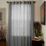 Portsmouth Home 2-pack Mia Jacquard Sheer Window Curtains