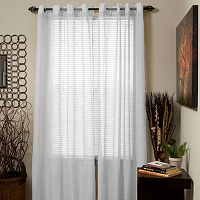 Portsmouth Home Mia Jacquard Sheer Window Curtain Set