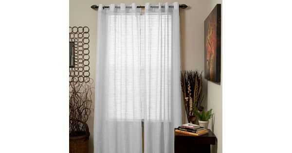 Portsmouth Home 2 Pk Mia Jacquard Sheer Curtains