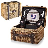 Picnic Time New York Giants Champion Willow Picnic Basket with Service for 2