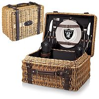 Picnic Time Oakland Raiders Champion Willow Picnic Basket with Service for 2