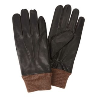 Men's Haggar Leather & Knit Gloves