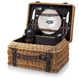 Picnic Time Philadelphia Eagles Champion Willow Picnic Basket with Service for 2