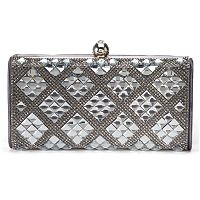 Lenore by La Regal Rhinestone Framed Clutch