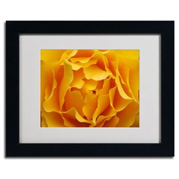 ''Hypnotic Yellow Rose'' Framed Wall Art