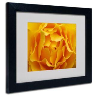 ''Hypnotic Yellow Rose'' Framed Wall Art