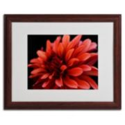 ''Red Dahlia'' Matted Framed Wall Art