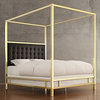 HomeVance Barton Hills Wood Canopy Bed