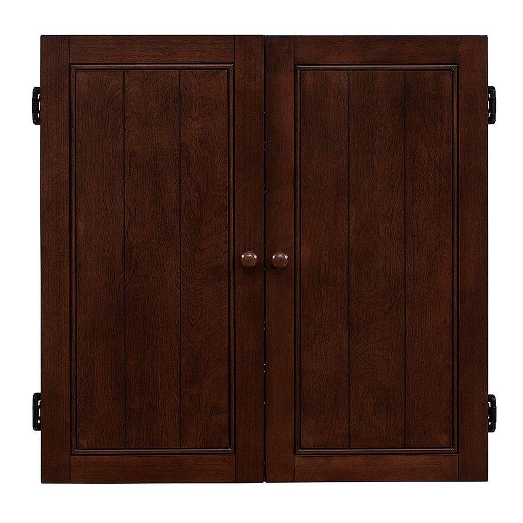 American Heritage Billiards Dart Board Cabinet 8-piece Set