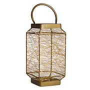 Elements Metallic String LED Light Lantern
