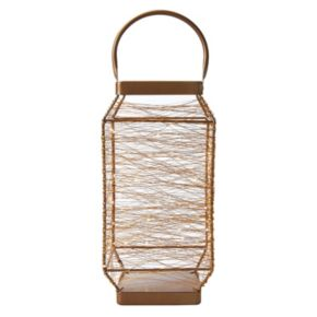 Elements Tall LED String Light Lantern