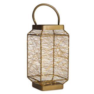 Elements Tall LED String Light Lantern