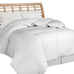All Season Microfiber Stripe Down Comforter